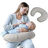 Sei Design Stillkissen ergonomisch   Lagerungskissen   Baby-Nest und Sitzhilfe mit hochwertigem 100% Baumwoll-Bezug. Schadstofffrei - nach ÖKO TEX Standard 100 Klasse 1