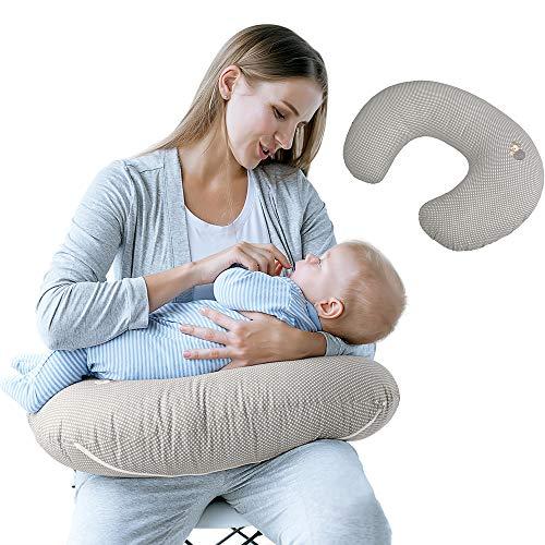 Sei Design Stillkissen ergonomisch | Lagerungskissen | Baby-Nest und Sitzhilfe mit hochwertigem 100{943cf3424eb9924bc71386237d987bb43d88bd65c6172c16c25b01d0a7279ce3} Baumwoll-Bezug. Schadstofffrei - nach ÖKO TEX Standard 100 Klasse 1