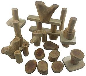 Lichee Toys 105017-Ladrillos en Bolsa de algodón para niños pequeños, 32Unidades