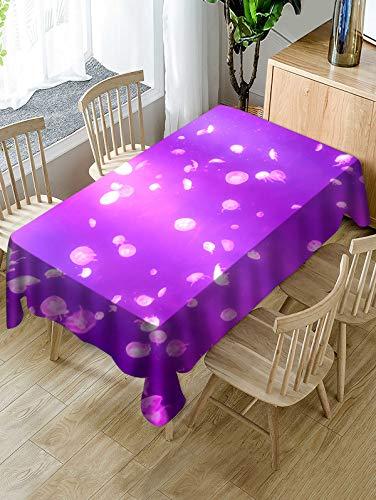 QWEASDZX Tischdecke Einfach und modern Digitaldruck Ölbeständiges Antifouling Rechteckige Tischdecke Geeignet für Innen- und Außentischdecken 140x180cm