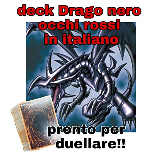 Yu-Gi-Oh! - Deck Mazzo Completo - Drago Nero Occhi Rossi - 46 Carte - Pronto per Duellare