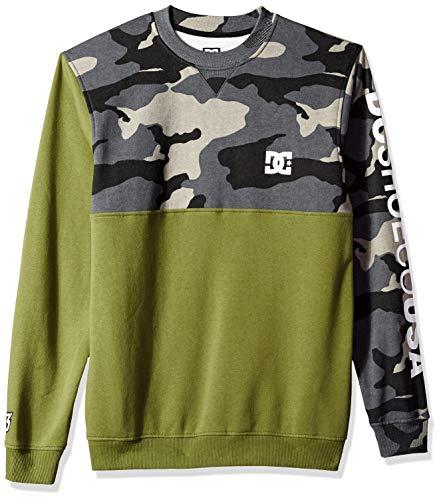 DC Apparel Herren Ken Block Founders Series Clewiston Crew Sweatshirt, Burnt Olive, Klein (Kid Dc Iphone Flash)
