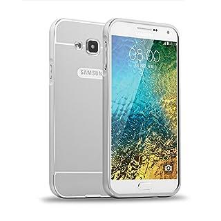 AIBULO PC + Metall Dual-Werkstoff Telefon Rüstung Bumper Protictive Case hülle/tasche/Schutzhülle für Samsung Galaxy A5 (für Samsung Galaxy A5, Silber)