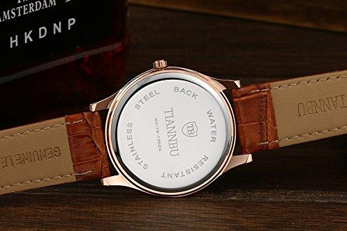 OOFIT Lederarmband vergoldet Geschenk Partner Paar Uhren (2-er Set)