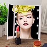 YENJOS LED Kosmetikspiegel, LED-Licht emittierender Spiegel tragbarer dreiseitiger Faltbarer Spiegel Kompaktspiegel