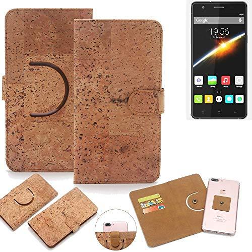 K-S-Trade Schutz Hülle für Cubot S500 Handyhülle Kork Handy Tasche Korkhülle Schutzhülle Handytasche Wallet Case Walletcase Flip Cover Smartphone