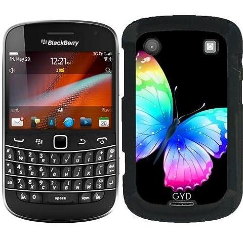 Hülle für Blackberry Bold 9900 - Bunte Schmetterling Insekt by WonderfulDreamPicture