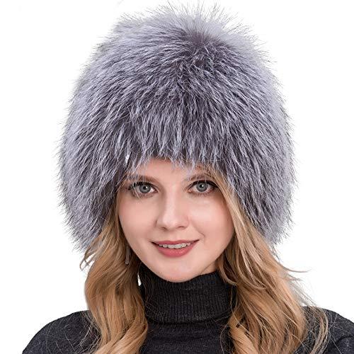 Kaijin cappello invernale da donna in pelliccia di volpe argento naturale al 100% cappello da donna cappello da bomber in pelliccia di volpe orecchio femminile caldo inverno must