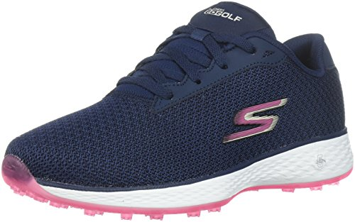 Skechers 2018 Go Golf Eagle Range Womens Spikeless Shoes 14862 Navy/Pink 6.5UK
