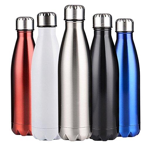 Thermo Wasserflasche Trinkflasche Thermosflasche Vakuum-isolierte Edelstahl-Trinkflasche für Kinder, Erwachsene, Büro,Camping, Wandern, Reisen,5 Farben,350ml,500ml,750ml Mxssi (Rosa Rucksack Reebok)