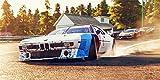 Stefan Langer - Kunst ist cool Kunstdruck Bild BMW M1 Procar Turbo Action Fahr Szene Qualm Leinwand Poster Tapete Mousepad Acrylglas Aluminium BalsaHolz Aufkleber (160 Mal 80 cm, Aluplatte Gebürstet)