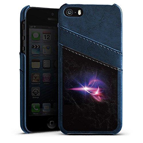 Apple iPhone 4 Housse Étui Silicone Coque Protection Lumière Couleurs Lumières Étui en cuir bleu marine