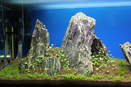 Aquarium Rock Fish Tank Decoration Slate 100% Natural Ideal For Caves WOOD STONE 10kg Set 4