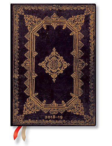 Paperblanks Nox Midi 18-Akademischer Kalender 2018–2019 im week-to-view