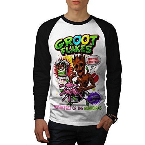 Weiblich Kostüm Groot (Groot Flakes Comic Müsli Held Herren M Baseball lange Ärmel T-Shirt |)