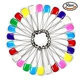 Goodlucky365 50pc sortierte Farbe Baby & Kinder Tuch-Windel-Pins Sicherheit Safe