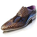 Giovanni Herren Neue Leder Gefüttert Crocs Patent Formelle Hochzeit Party Kleid Größe UK 6-12 - Braun Patent Spitz Kroko, 9 UK / 43 EU