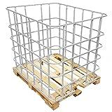 REKUBIK IBC Gitterbox auf Holzpalette