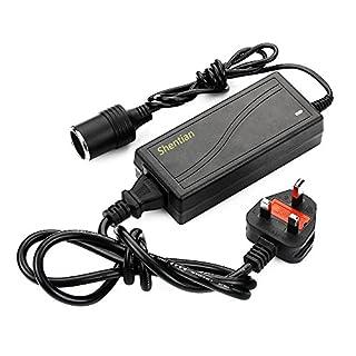 Shentian Power Supply Cigarette Lighter Socket AC to DC Adapter 110V-240V to 12V 5A Car Power Charger Converter Black