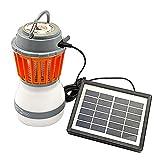 Lampada portatile ad energia solare anti zanzare per il campeggio, ricarica via USB, lampada repellente per zanzare, With Solar Panel+usb Cable, 17 x 9.5cm / 6.69*3.74in