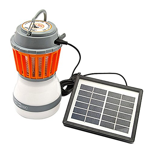 Camping Laterne, Samber LED Camping Licht Moskito Lampe USB Aufladbare & Solar Wiederaufladbar Campinglampe IP67 Wasserdichte Solarlampen Außenleuchten (USB + Solar Wiederaufladbar)