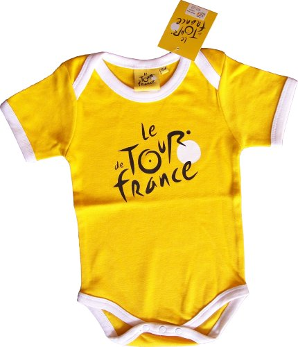 Tour de France 'Body Baby Radfahren Fahrrad-Offizielle Kollektion-Kleidung Kleinkind 2-Modell Trikot gelb, Gelb -
