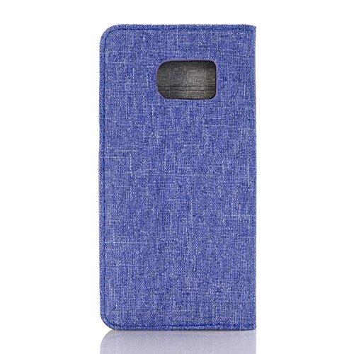 Samsung Galaxy S7 Case,cowboy - Jeans - Stil Kreuz Patten Oberfläche Lederetui Mit Crddit Card Slot Und Geld Stehen Auf S7 Fall Für Samsung ( Color : 4 , Size : Samsung S7 ) 2