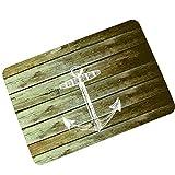 YOUJIA Türmatte Retro Fußmatte Holzmuster Fußabstreifer Sauberlaufmatte Rutschfest Badematten (Holzmuster #5, 40*60cm)