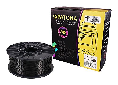 Patona 3d printer filament - petg - nero (bobina / 1kg / 1,75mm)