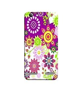 Fuson purple flower designer pattern Designer Back Case Cover forLenovo Vibe K5 Plus :: Lenovo Vibe K5 Plus A6020a46 :: Lenovo Vibe K5 Plus Lemon 3 -P-1372