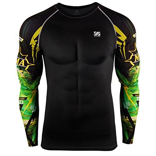 Zipravs MMA Kompressions-Shirt, langärmelig M ZCDS-069 -