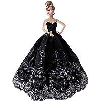 Creation® elegante Hermosa Bordado Diseño Boda Noche partido de la bola Vestido para la muñeca