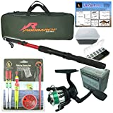 Best Fishing Rods And Reels - Junior beginners Fishing Kit Set. Novice Starter fishing Review
