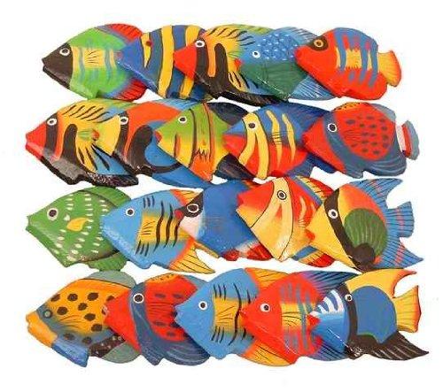 Deko-Fische aus Holz, kleine Streufische, 20 Stück