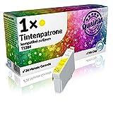 N.T.T.® 1 Stück XL 100% Qualität Druckerpatrone YELLOW / GELB Tintenpatrone Tinte für Epson Stylus kompatibel zu EPSON Stylus SX420W SX425W S22 SX 125 BX305FW Plus SX130 SX235W SX235W SX435W SX440W SX445W EPSON Stylus Office BX305F BX 305 FW (1x T1284 yellow) MIT CHIP!
