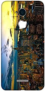 Snoogg New York By Night Solid Snap On - Back Cover all Around protection For Coolpad Note 3 (White, 16GB)