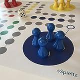 Spieltz 51842: Riesen Ludo (XL). Brettspiel extra groß. Extra großer Spielplan, große Spielfiguren aus Holz. BES. für Senioren, Kindergärten, Veranstaltungen.