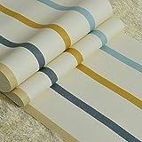 Mediterrane blaue vertikale Streifen Tapete moderne Kinderzimmer Jungen und Mädchen Schlafzimmer Studie Vliestapete (Color : Blue stripes)