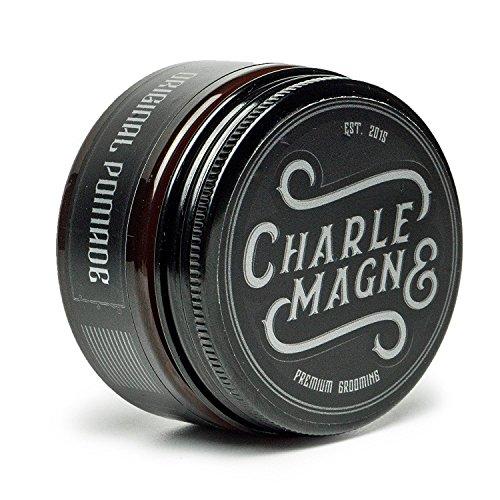 Charlemagne Original Pomade Wasserbasiert - Perfekter Glanz - Idealer Starker Halt - Haar-Styling Wachs für Herren & Männer-100ML - Hair-Wax hergestellt in UK - Edler Duft - Strong Hold - Hart - Pommade Wachs Männer
