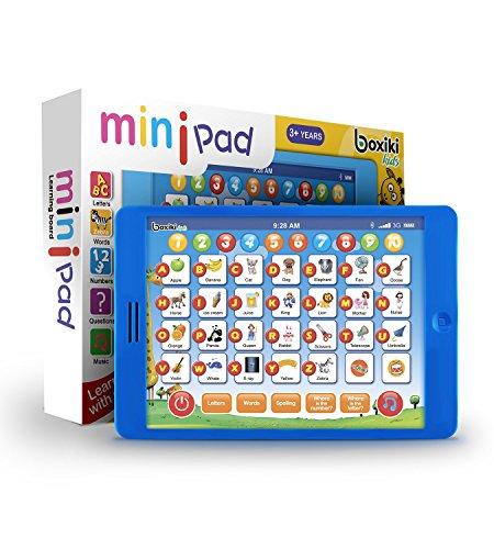 (Boxiki kids Englisch Lern-Tablet, lustiges Tablet für Kinder mit 6 Lernspielen für Kleinkinder für frühe Kindesentwicklung, Spielzeug Zum Lernen von Nummern, Dem ABC, Buchstabieren,)