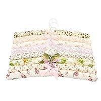 La Vogue 5PCS Flower Pattern Rural Style Bow Sponge Soft Coat Hangers 39*3cm Random Color