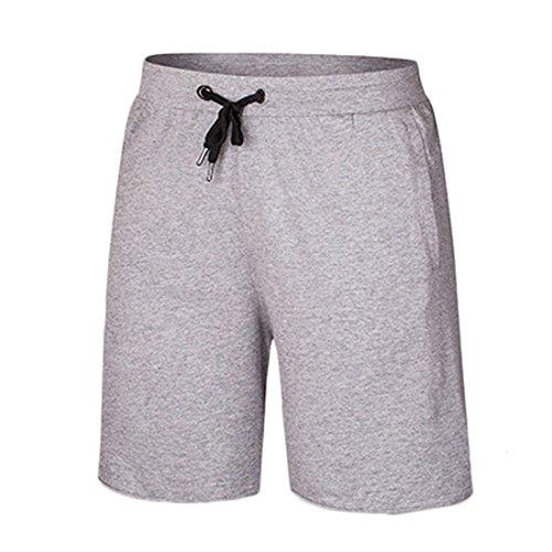 Vertvie Herren Shorts Kurzhose Badeshorts Jogginghose Bermudashorts Schwimmhose Wassersport Grau