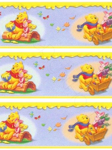 Original Disney Winnie Pooh Puuh & Tiger Borte Bordüre L 10 M x B 10 cm DOPPELTE Länge Wanddekoration NEU Selbstklebend