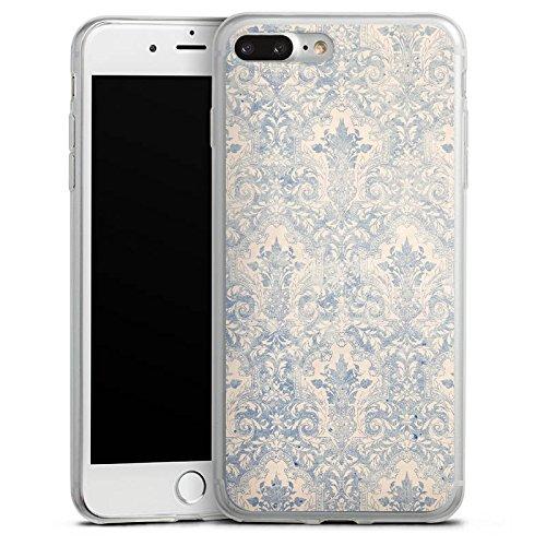 Apple iPhone 8 Slim Case Silikon Hülle Schutzhülle Barock Vintage Muster Silikon Slim Case transparent