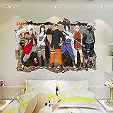 JUNMAONO 3D Naruto Wandaufkleber/Wandgemälde/Wand Poster/Wandbild Aufkleber/Wandbilder/Wandtattoo/Pinupbild/Beschriftung/Pad einfügen/Tapete/Tapezieren/Tapeten/Wand Zeitung/Wandmalerei/Haftnotiz/Fühlen Sie sich frei zu kleben/Instant Aufkleber/3D-Stereo-Wandaufkleber (2)