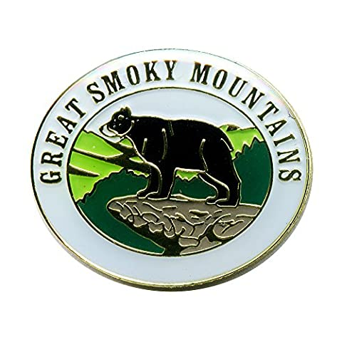 Great smoky mountains uSA national park baer ours button pin badge en métal et écussons 0660