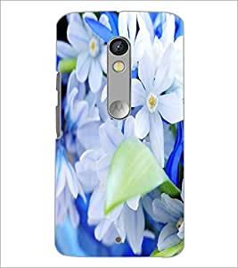 PrintDhaba Flowers D-2090 Back Case Cover for MOTOROLA MOTO X PLAY (Multi-Coloured)