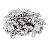 Sharplace 100 Stück 16 x 54 mm Bild Fotorahmen Metallfeder drehen Clip Aufhänger Silber
