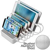 JZBRAIN Multi USB Ladestation für mehrere Geräte, Handy und Tablet Ladestation 6...
