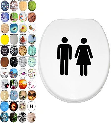 WC Sitz mit Absenkautomatik, viele schöne WC Sitze zur Auswahl, hochwertige und stabile Qualität aus Holz (Unisex)